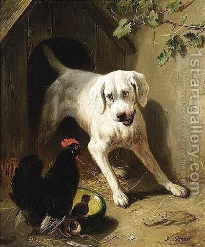 The Intruder 2 by Henriette Ronner-Knip - Reproduction Oil Painting