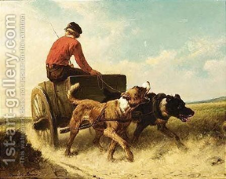 The Dog Cart 3 by Henriette Ronner-Knip - Reproduction Oil Painting
