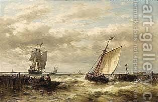 Setting Out For Sea by Abraham Hulk Jun. - Reproduction Oil Painting
