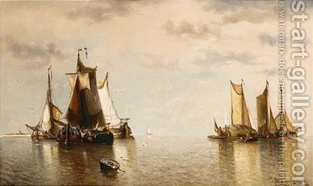 Harderwijk Zuiderzee by Auguste Musin - Reproduction Oil Painting