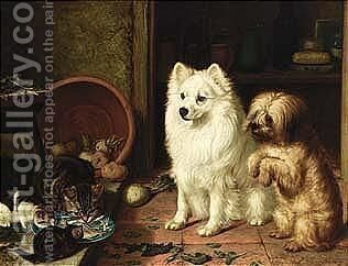 The Jealous Visitors by Horatio Henry Couldery - Reproduction Oil Painting