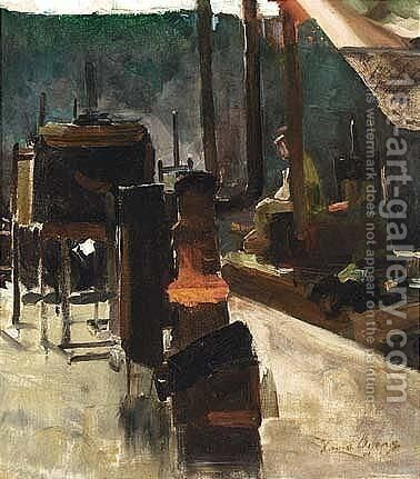The Artist's Studio 2 by David Oyens - Reproduction Oil Painting