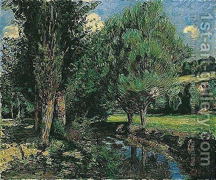 Trees by a river by Armand Guillaumin - Reproduction Oil Painting