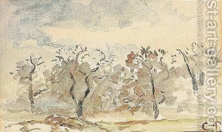 Trees by Camille Pissarro - Reproduction Oil Painting