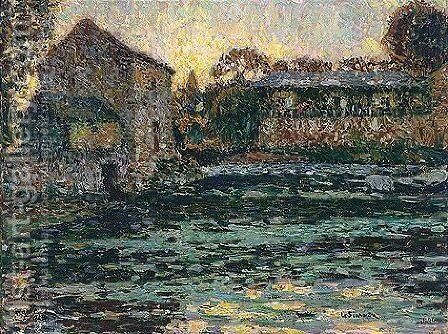 Houses by Henri Eugene Augustin Le Sidaner - Reproduction Oil Painting