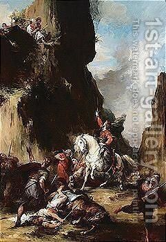 Scene From The Greek War Of Independence 2 by Henri Leopold Levy - Reproduction Oil Painting