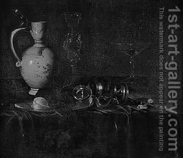 A wan-li kraak porcelain jug by (after)  Ottmar, The Younger Elliger - Reproduction Oil Painting