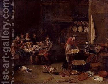 Tavern scene by (after) Egbert Jaspersz. Van, The Elder Heemskerck - Reproduction Oil Painting