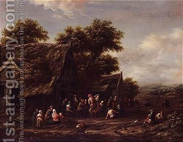 A village Kermesse by Barend Gael or Gaal - Reproduction Oil Painting