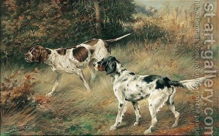 Pointers by Edmund Henry Osthaus - Reproduction Oil Painting