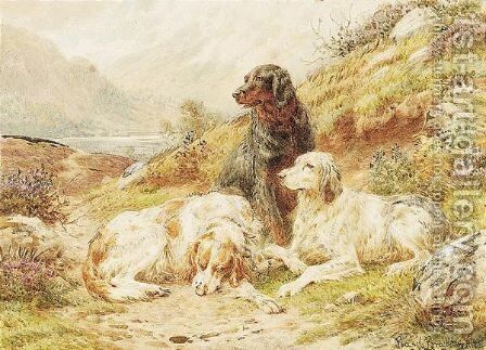 Waiting For Their Master by Basil Bradley - Reproduction Oil Painting
