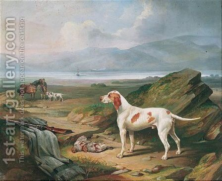 Pointers by Edward Lloyd - Reproduction Oil Painting