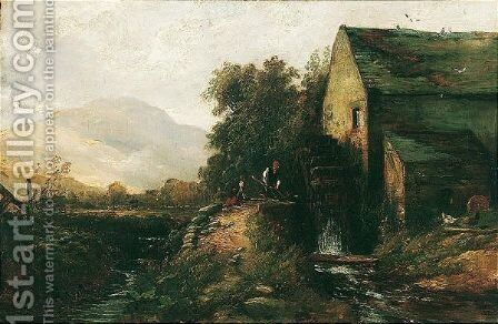 Watermill, Near The Pass Of Leny by Edward Thornton Crawford - Reproduction Oil Painting