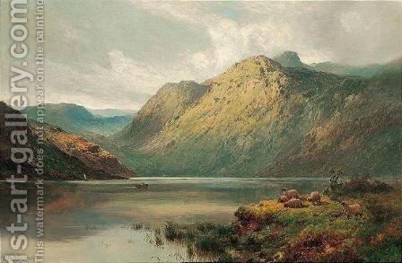 The Lake At Stronachlacher, N.B. by Alfred de Breanski - Reproduction Oil Painting