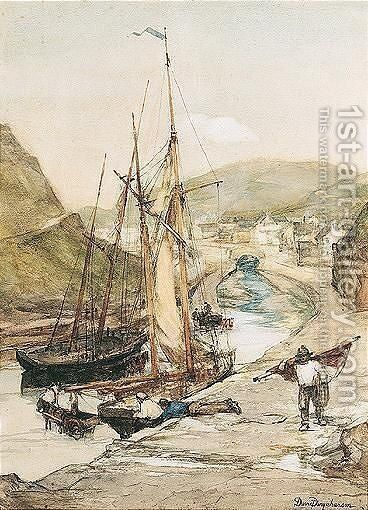 Boscastle by David Farquharson - Reproduction Oil Painting