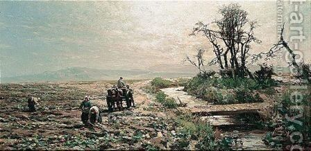 Gathering Turnips by Alexander Young - Reproduction Oil Painting