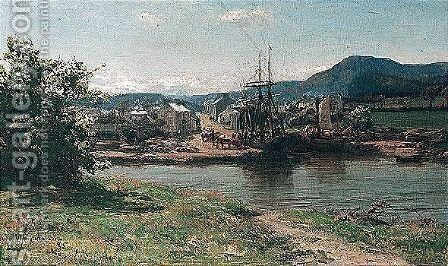 Palnackie by David Farquharson - Reproduction Oil Painting