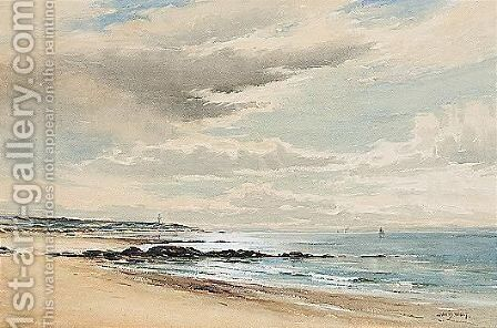 The Beach by David West - Reproduction Oil Painting