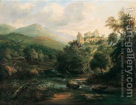 Castle Campbell by Arthur Perigal - Reproduction Oil Painting