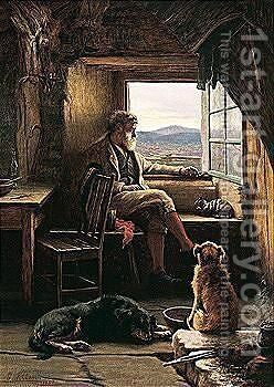 Crofter At The Window by Charles Sillem Lidderdale - Reproduction Oil Painting