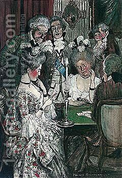 At The Card Table by Maurice William Greiffenhagen - Reproduction Oil Painting