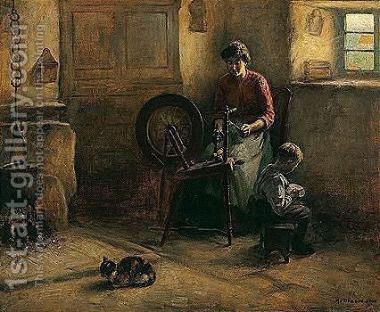 A Busy Mother by Henry John Dobson - Reproduction Oil Painting