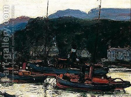 On The Clyde by Alexander Jamieson - Reproduction Oil Painting