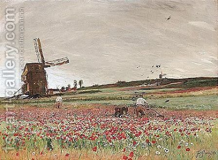 The Poppy Field by David Murray - Reproduction Oil Painting