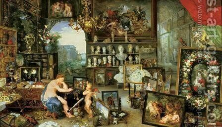 An Allegory Of Sight by Jan, the Younger Brueghel - Reproduction Oil Painting