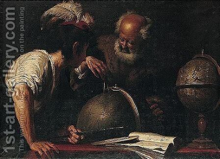 The Geographers by (after) Bernardo Strozzi - Reproduction Oil Painting