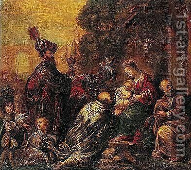 The Adoration Of The Magi by Claude Vignon - Reproduction Oil Painting