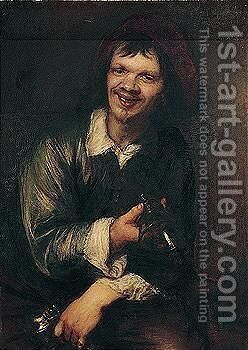 The Toper by (after) Lucas The Younger Franchoys - Reproduction Oil Painting