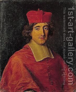 Portrait Of A Cardinal, Head And Shoulders by Jacob Ferdinand Voet - Reproduction Oil Painting