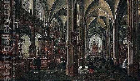 Interior Of A Cathedral by Bartholomeus Van Bassen - Reproduction Oil Painting