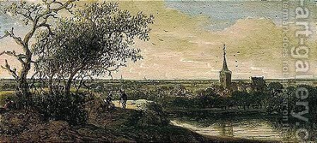 A Village By A River by Anthony Jansz van der Croos - Reproduction Oil Painting