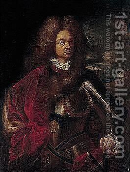 Portrait Of Colonel Albert Manuel (1656-1705) by Antoine The Younger Guerra - Reproduction Oil Painting