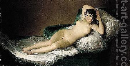 Maja Desnuda by (after) Francisco De Goya Y Lucientes - Reproduction Oil Painting