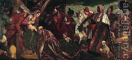 The adoration of the magi 3 by (after) Paolo Veronese (Caliari) - Reproduction Oil Painting