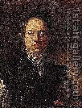Self-portrait of an artist by Venetian School - Reproduction Oil Painting