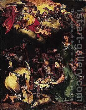 The adoration of the shepherds 6 by (after) Abraham Bloemaert - Reproduction Oil Painting