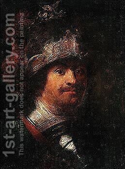 Head Of A Warrior by David de Koninck - Reproduction Oil Painting