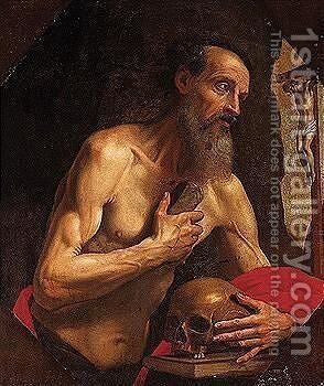 Saint Jerome by (after) Francesco Curradi - Reproduction Oil Painting