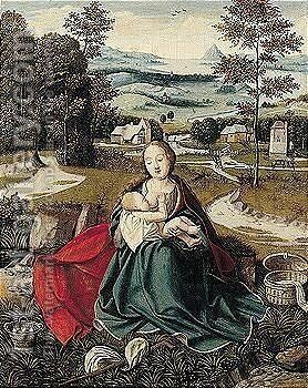 The rest on the flight into Egypt by (after) Jan Provost - Reproduction Oil Painting