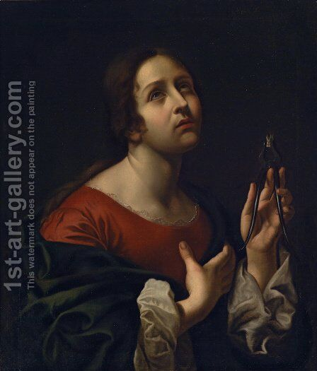 Saint Apollonia by Carlo Dolci - Reproduction Oil Painting