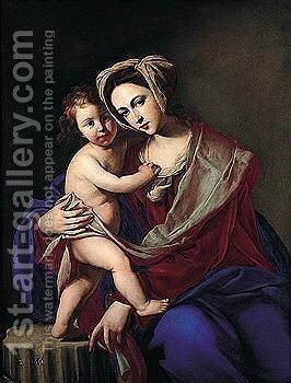 The Madonna And Child 2 by Massimo Stanzione - Reproduction Oil Painting