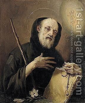 Saint Francis Of Paola by Giovanni Battista Tiepolo - Reproduction Oil Painting