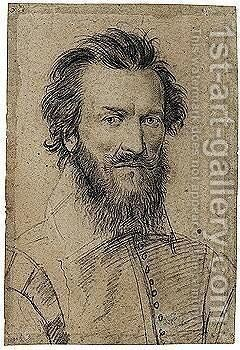 Portrait Of A Bearded Man by (after) Daniel Dumoustier - Reproduction Oil Painting