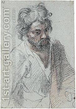 Half-length Study Of A Bearded Man by Cristofano Allori - Reproduction Oil Painting