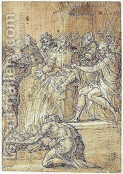 St. Paul preaching at Ephesus by Italo-Flemish School - Reproduction Oil Painting