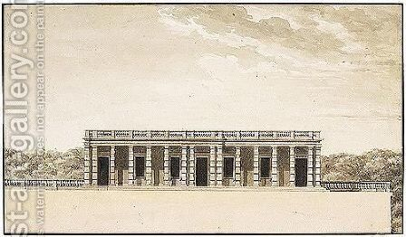 Design For An Orangerie by (after) Claude Nicolas Ledoux - Reproduction Oil Painting